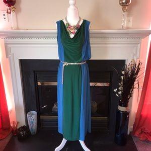 Jon & Anna | Sleeveless Color Block Maxi Dress
